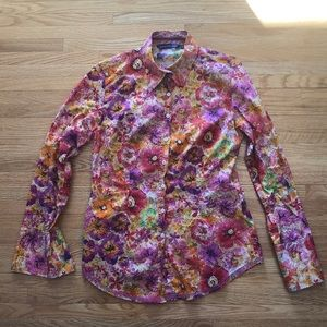 Georg Roth colorful floral button down (sz S)